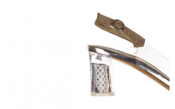 Sandały sca'viola g-60 gold 047174, złoty, silikon 7