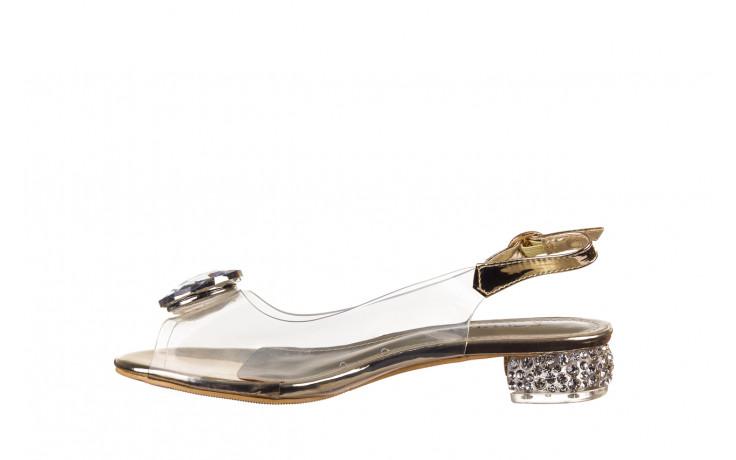 Sandały sca'viola g-15 gold 047168, złoty, silikon - nowości 2