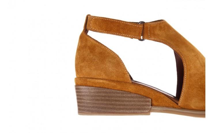 Sandały bayla-161 061 1612 noce suede, żółty, skóra naturalna  - sandały - buty damskie - kobieta 7