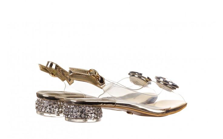 Sandały sca'viola g-15 gold 047168, złoty, silikon - nowości 3