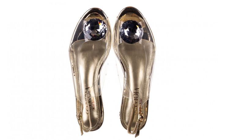 Sandały sca'viola g-15 gold 047168, złoty, silikon - nowości 4
