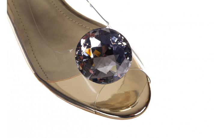 Sandały sca'viola g-15 gold 047168, złoty, silikon - nowości 5