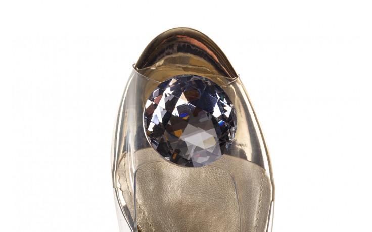 Sandały sca'viola g-15 gold 047168, złoty, silikon - nowości 7