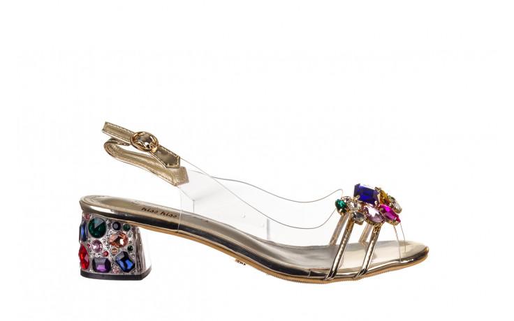 Sandały sca'viola g-25 gold 21 047170, złoty, silikon - sandały - buty damskie - kobieta