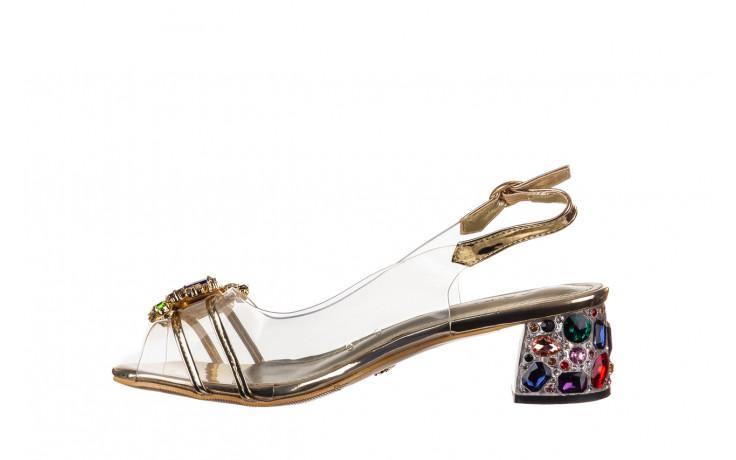 Sandały sca'viola g-25 gold 21 047170, złoty, silikon - sandały - buty damskie - kobieta 2