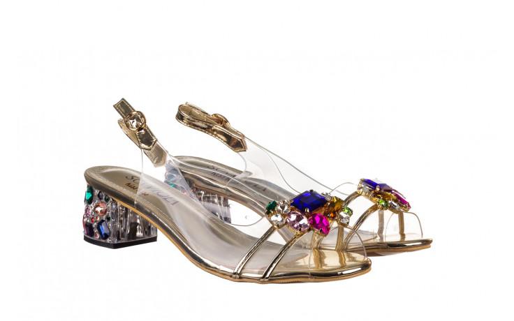 Sandały sca'viola g-25 gold 21 047170, złoty, silikon - sandały - buty damskie - kobieta 1