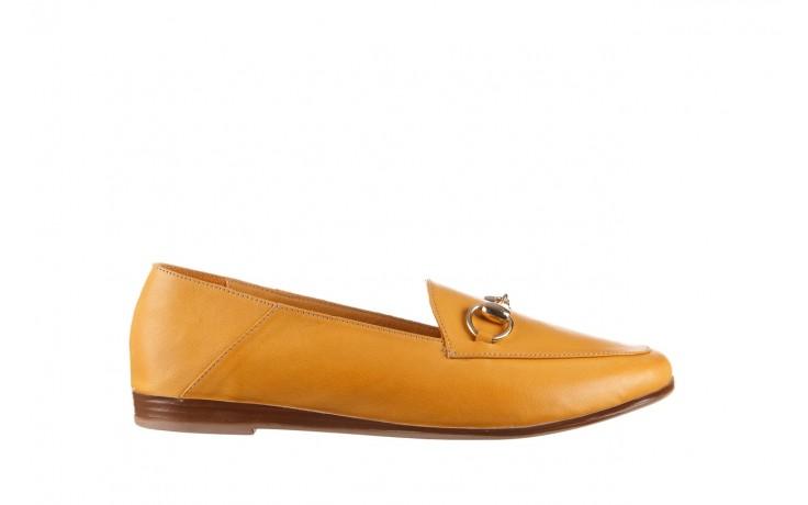 Półbuty bayla-161 138 80127 noce, żółty, skóra naturalna - półbuty - buty damskie - kobieta