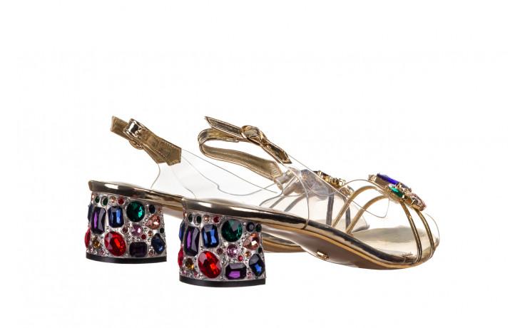 Sandały sca'viola g-25 gold 21 047170, złoty, silikon - sandały - buty damskie - kobieta 3