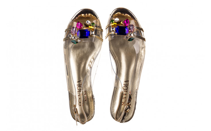 Sandały sca'viola g-25 gold 21 047170, złoty, silikon - sandały - buty damskie - kobieta 4