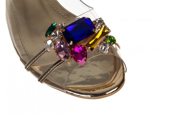 Sandały sca'viola g-25 gold 21 047170, złoty, silikon - sandały - buty damskie - kobieta 5