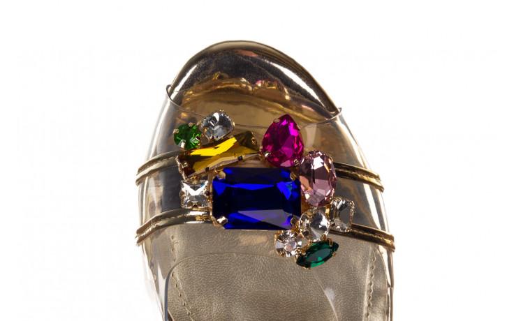Sandały sca'viola g-25 gold 21 047170, złoty, silikon - sandały - buty damskie - kobieta 7