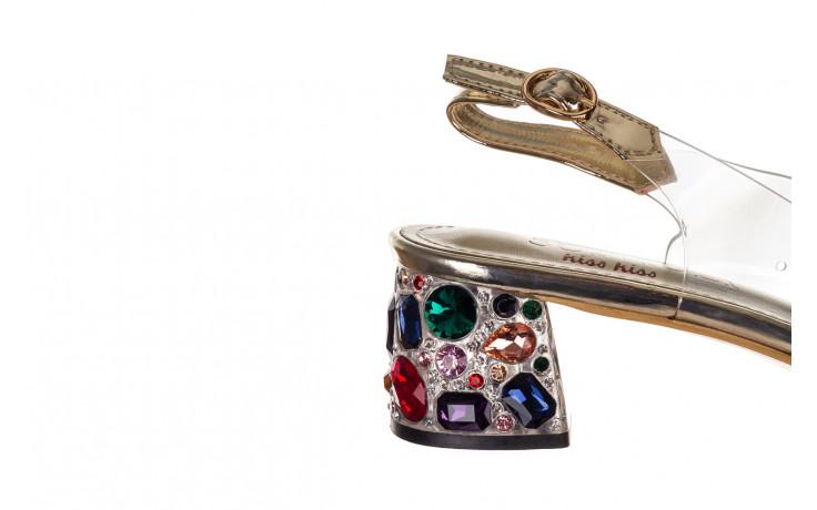 Sandały sca'viola g-25 gold 21 047170, złoty, silikon - sandały - buty damskie - kobieta 6
