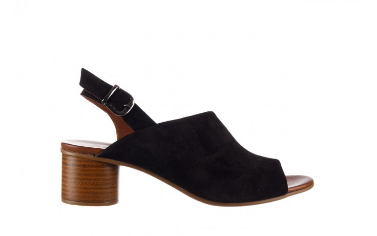 Sandały bayla-161 061 1030 black suede, czarny, skóra naturalna zamszowa - sandały - dla niej  - sale