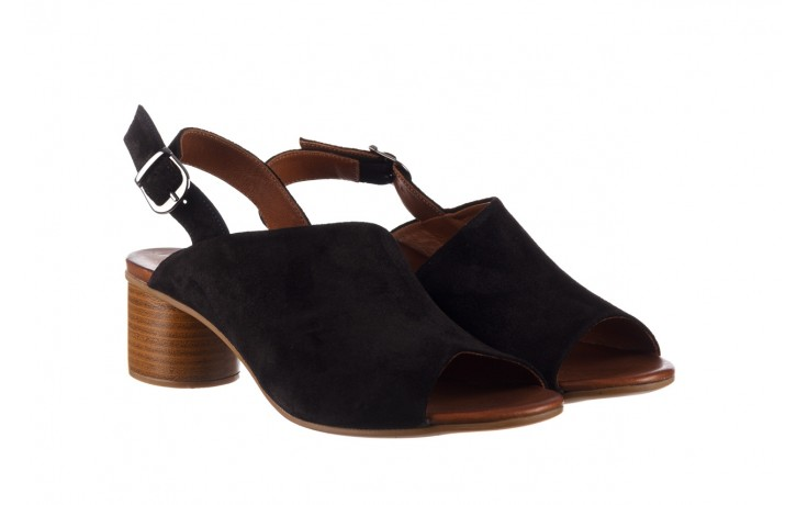 Sandały bayla-161 061 1030 black suede, czarny, skóra naturalna zamszowa - sandały - dla niej  - sale 1