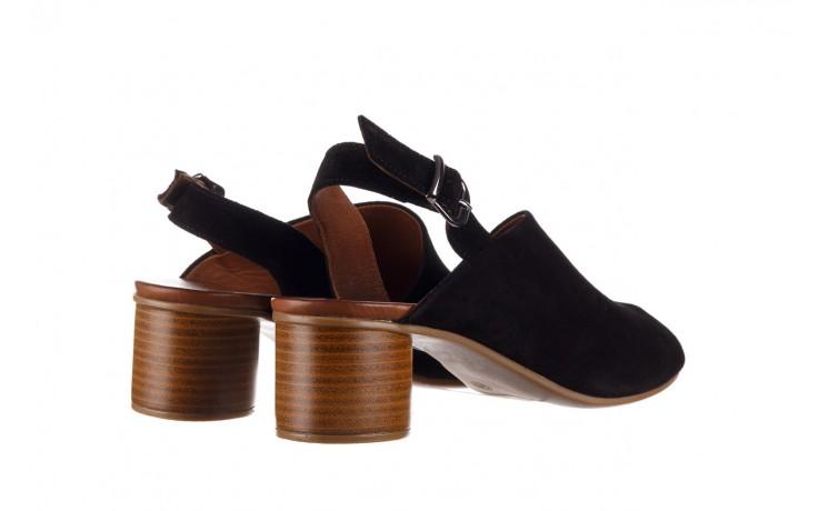 Sandały bayla-161 061 1030 black suede, czarny, skóra naturalna zamszowa - sandały - dla niej  - sale 3