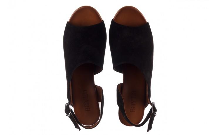 Sandały bayla-161 061 1030 black suede, czarny, skóra naturalna zamszowa - sandały - dla niej  - sale 4