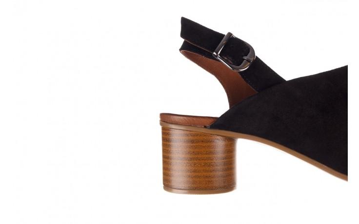 Sandały bayla-161 061 1030 black suede, czarny, skóra naturalna zamszowa - sandały - dla niej  - sale 7