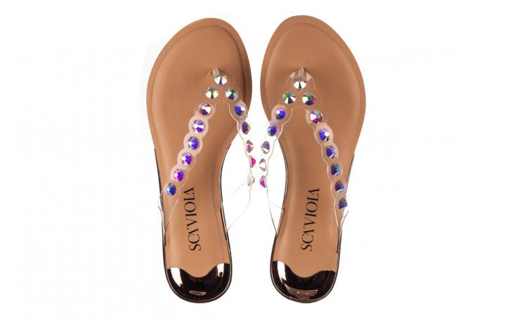 Klapki sca'viola b-174 pink 047167, róż, silikon - klapki - buty damskie - kobieta 4