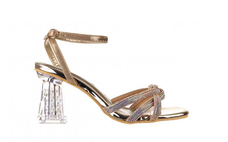 Sandały sca'viola g-66 gold 047177, złoty, skóra naturalna  - na obcasie - sandały - buty damskie - kobieta