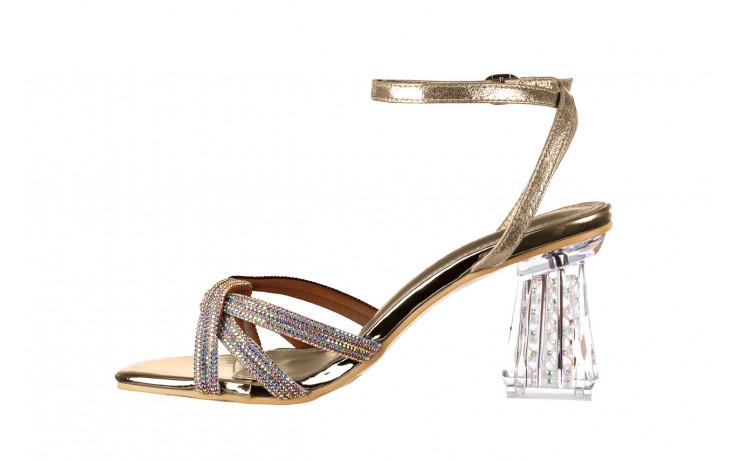 Sandały sca'viola g-66 gold 047177, złoty, skóra naturalna  - na obcasie - sandały - buty damskie - kobieta 2