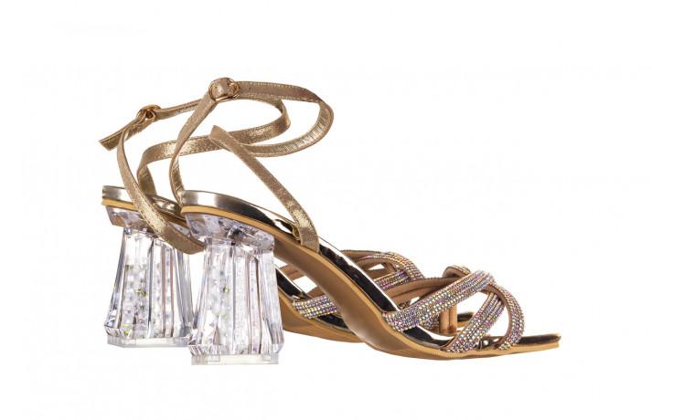 Sandały sca'viola g-66 gold 047177, złoty, skóra naturalna  - na obcasie - sandały - buty damskie - kobieta 3