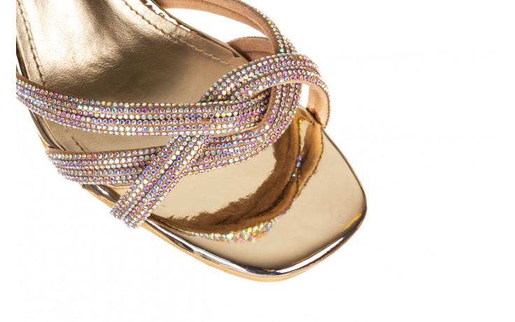 Sandały sca'viola g-66 gold 047177, złoty, skóra naturalna  - na obcasie - sandały - buty damskie - kobieta 5