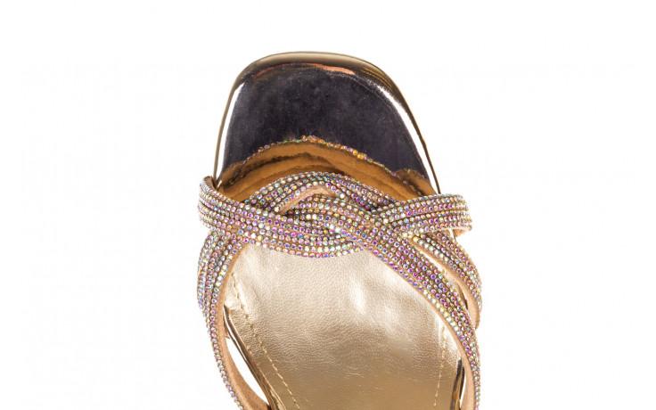 Sandały sca'viola g-66 gold 047177, złoty, skóra naturalna  - na obcasie - sandały - buty damskie - kobieta 6