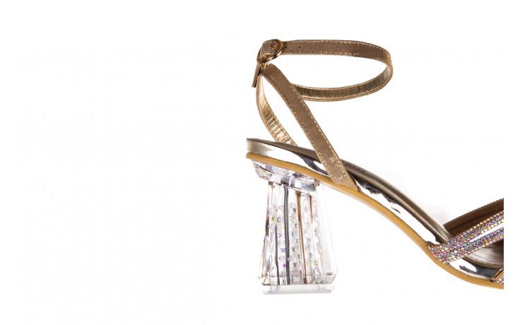 Sandały sca'viola g-66 gold 047177, złoty, skóra naturalna  - na obcasie - sandały - buty damskie - kobieta 7