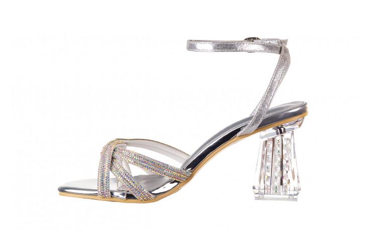 Sandały sca'viola g-66 silver 047178, srebro, skóra naturalna  - na obcasie - sandały - buty damskie - kobieta 2