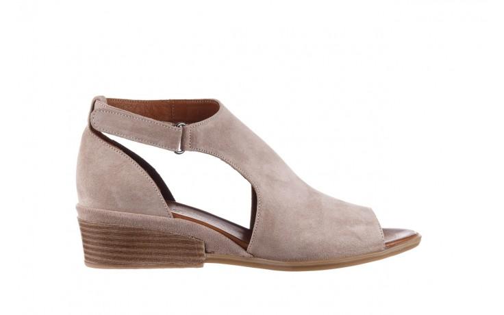 Sandały bayla-161 061 1612 beige suede, beż, skóra naturalna  - skórzane - sandały - buty damskie - kobieta