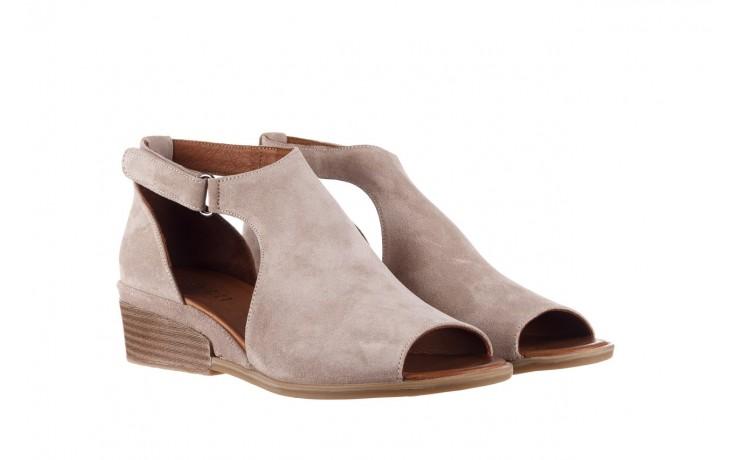 Sandały bayla-161 061 1612 beige suede, beż, skóra naturalna  - dla niej  - sale 1