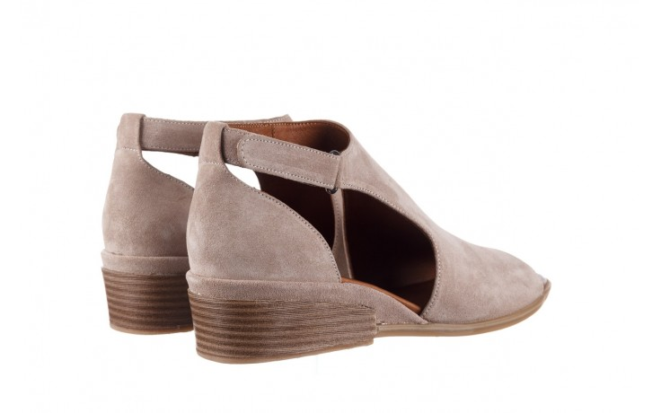 Sandały bayla-161 061 1612 beige suede, beż, skóra naturalna  - skórzane - sandały - buty damskie - kobieta 3