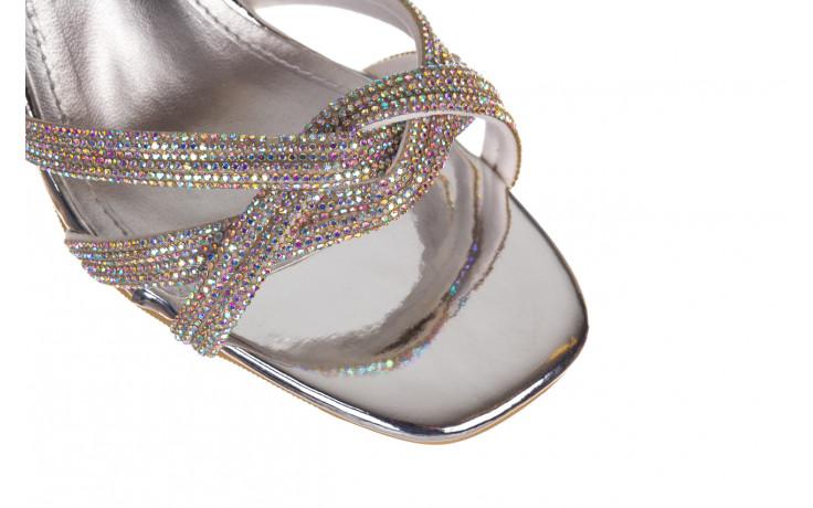 Sandały sca'viola g-66 silver 047178, srebro, skóra naturalna  - na obcasie - sandały - buty damskie - kobieta 7