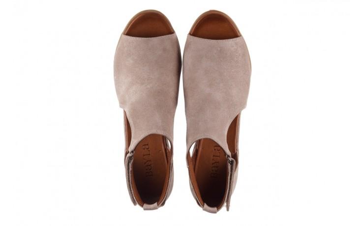 Sandały bayla-161 061 1612 beige suede, beż, skóra naturalna  - skórzane - sandały - buty damskie - kobieta 4