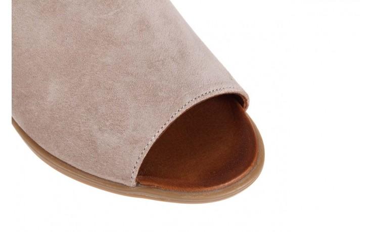 Sandały bayla-161 061 1612 beige suede, beż, skóra naturalna  - skórzane - sandały - buty damskie - kobieta 5