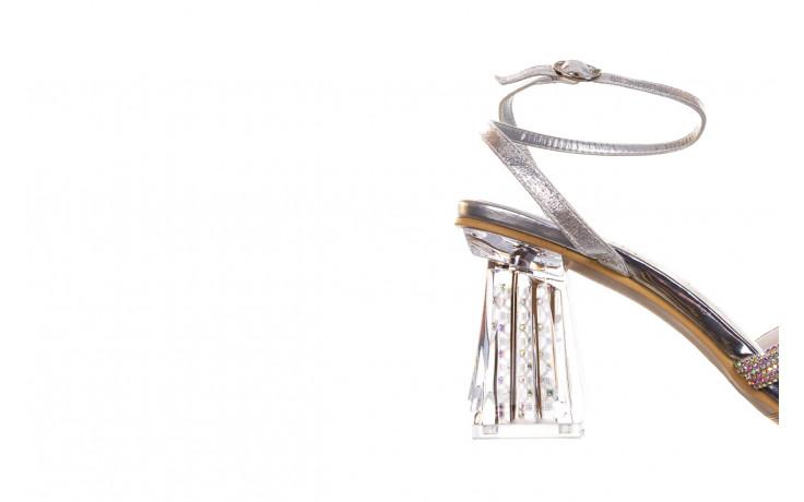 Sandały sca'viola g-66 silver 047178, srebro, skóra naturalna  - na obcasie - sandały - buty damskie - kobieta 5