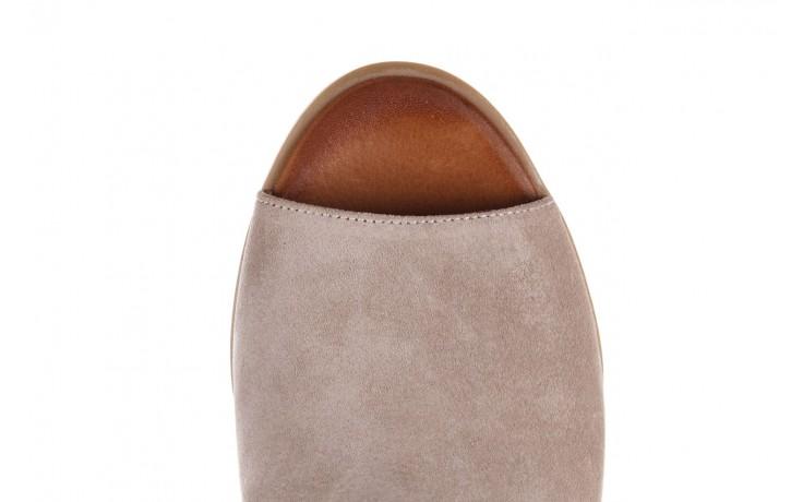 Sandały bayla-161 061 1612 beige suede, beż, skóra naturalna  - skórzane - sandały - buty damskie - kobieta 6