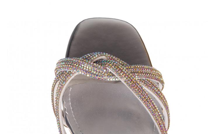 Sandały sca'viola g-66 silver 047178, srebro, skóra naturalna  - na obcasie - sandały - buty damskie - kobieta 6