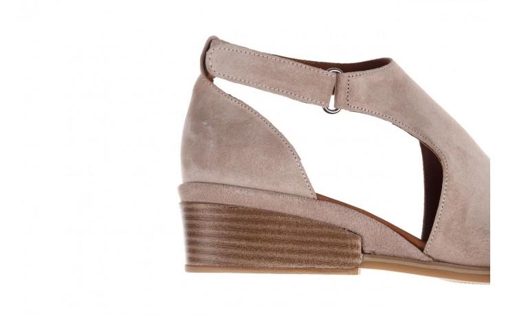 Sandały bayla-161 061 1612 beige suede, beż, skóra naturalna  - skórzane - sandały - buty damskie - kobieta 7