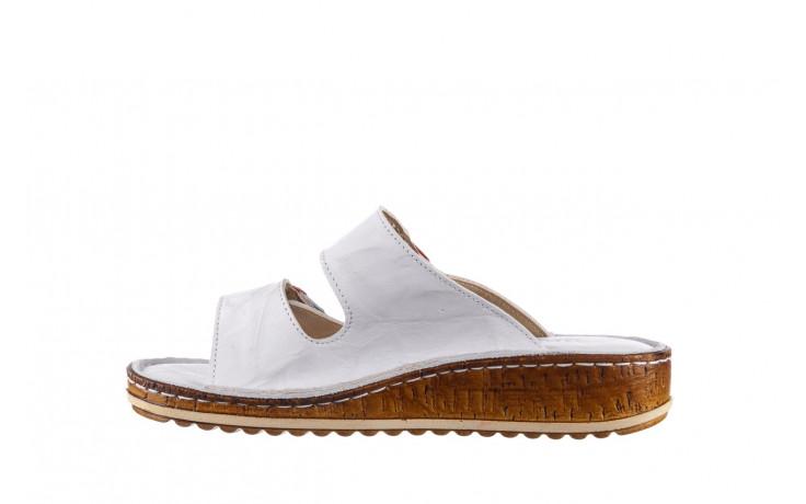 Klapki bayla-161 016 109 tommy 21 161187, biały, skóra naturalna  - klapki - buty damskie - kobieta 2
