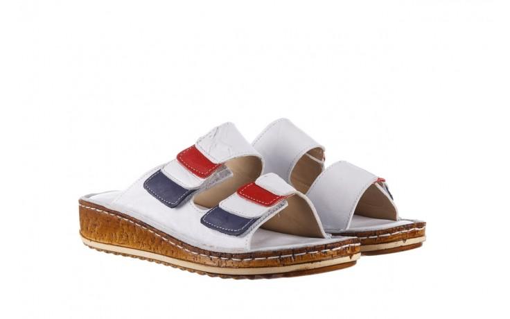 Klapki bayla-161 016 109 tommy, biały, skóra naturalna  - klapki - buty damskie - kobieta 1