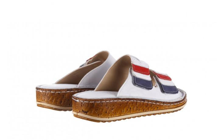 Klapki bayla-161 016 109 tommy 21 161187, biały, skóra naturalna  - klapki - buty damskie - kobieta 3