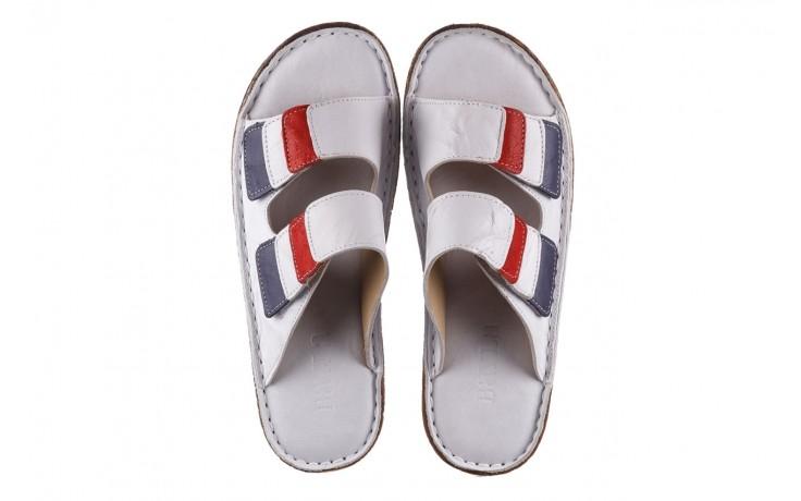 Klapki bayla-161 016 109 tommy, biały, skóra naturalna  - klapki - buty damskie - kobieta 4