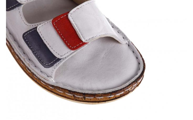 Klapki bayla-161 016 109 tommy 21 161187, biały, skóra naturalna  - klapki - buty damskie - kobieta 5