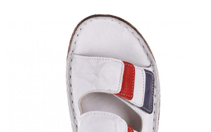 Klapki bayla-161 016 109 tommy 21 161187, biały, skóra naturalna  - klapki - buty damskie - kobieta 6