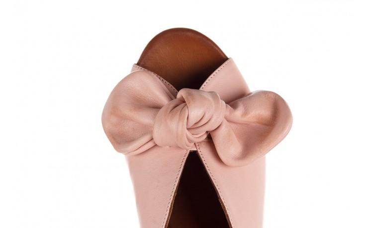 Klapki bayla-161 061 1029 cameo, róż, skóra naturalna 6