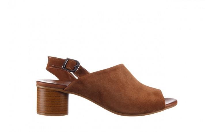 Sandały bayla-161 061 1030 tan suede, brąz, skóra naturalna zamszowa - sandały - dla niej  - sale