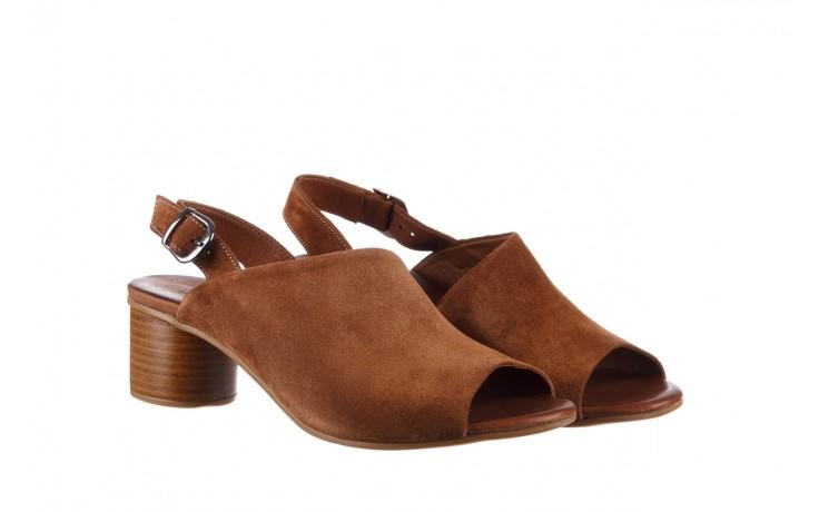 Sandały bayla-161 061 1030 tan suede, brąz, skóra naturalna zamszowa - sandały - dla niej  - sale 1