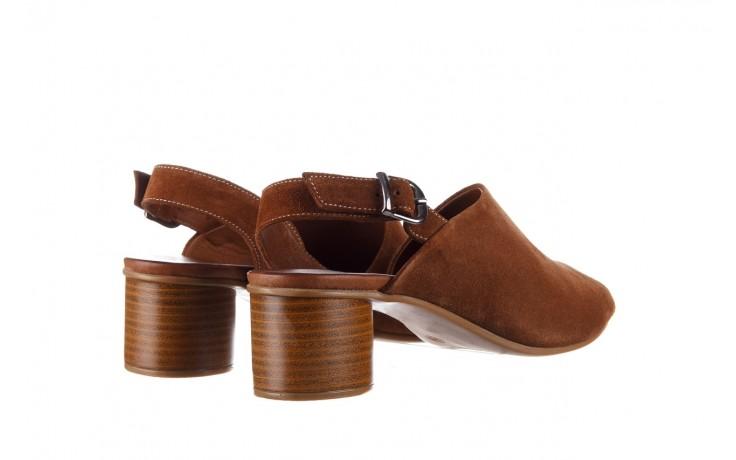 Sandały bayla-161 061 1030 tan suede, brąz, skóra naturalna zamszowa - sandały - dla niej  - sale 3