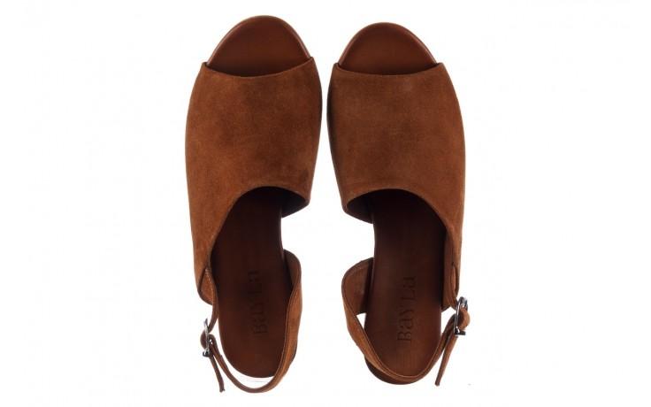 Sandały bayla-161 061 1030 tan suede, brąz, skóra naturalna zamszowa - sandały - dla niej  - sale 4